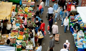 A food market in south London