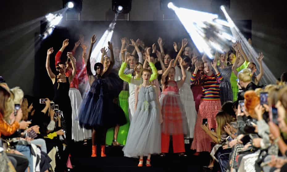 Rave on the runway … the Molly Goddard show at London fashion week spring/summer collections 2017.