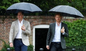 Prince William, the Duke of Cambridge, and Prince Harry.