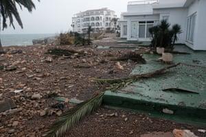 Storm damage in Mallorca.