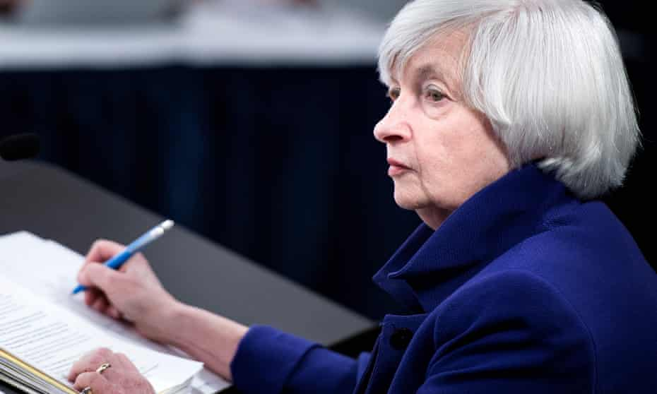 Janet Yellen said: 'I made clear that I would be willing to serve another term and so yes, I do feel a sense of disappointment.'