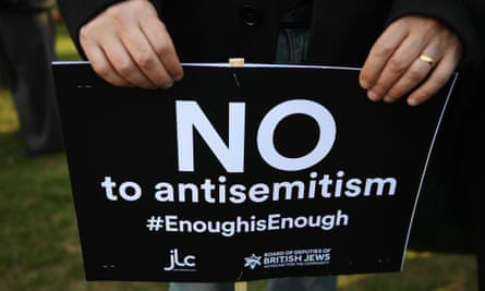 A placard at a protest outside parliament in London on 26 March.