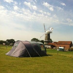 Bircham Windmill campsite, Norfolk