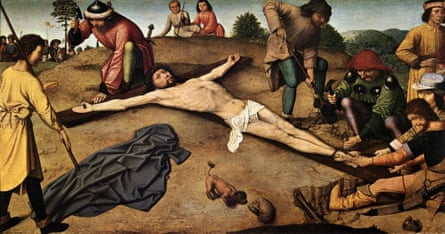 Christ Nailed to the Cross, c1481, by Gerard David