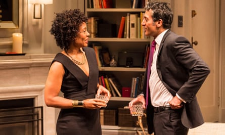 "Karen Pittman and Hari Dhillon in Ayad Akhtar's Pulitzer-winning play ""Disgraced."
