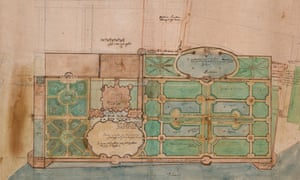 A garden design believed to be by Constantino de' Servi.