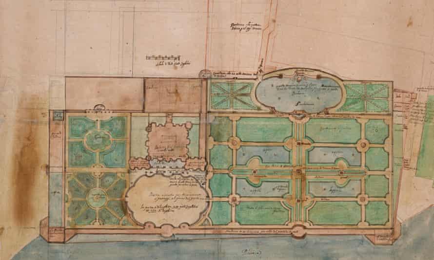 A garden design believed to be by Constantino de' Servi.