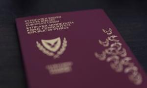 A Cypriot passport