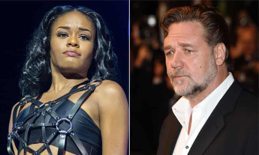 Azealia Banks and Russell Crowe: party went south