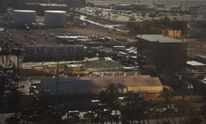 A view on Tuesday of Las Vegas Village, a 15-acre open air venue on the Las Vegas strip where 59 people were killed.