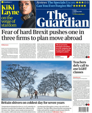 GUARDIAN FRONT PAGE 1/02/19