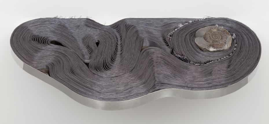Alice Channer's enigmatic steel coil, entitled Elon Musk.