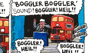 """Perhaps electric buses 'can imitate Steve Bell's buses, trains and tractors and go """"boggler, boggler"""",' writes Warren Kovach."""