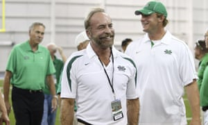 Chris Cline, seen as Marshall University dedicates a new indoor practice facility.