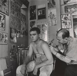 Bill Sanders, tattoo artist, Houston, Texas, 1968