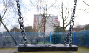 Children's play area in Ladywood, Birmingham.