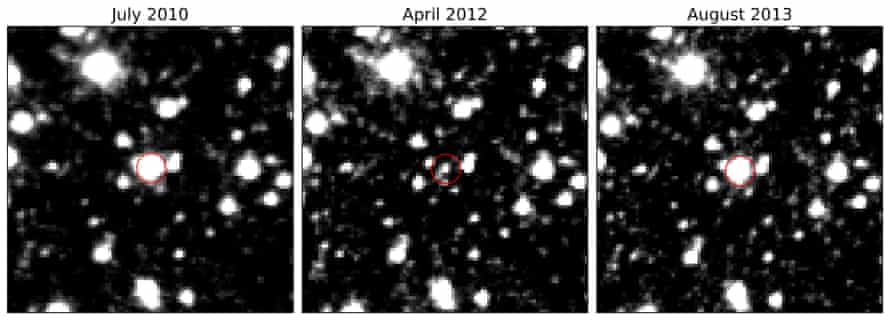 VVV-WIT-08: an image sequence of the fading and brightening star.