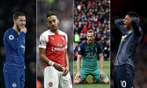Four into two won't go: Only two from Chelsea, Arsenal, Tottenham and Manchester United can finish in the top four behind Liverpool and Manchester City.