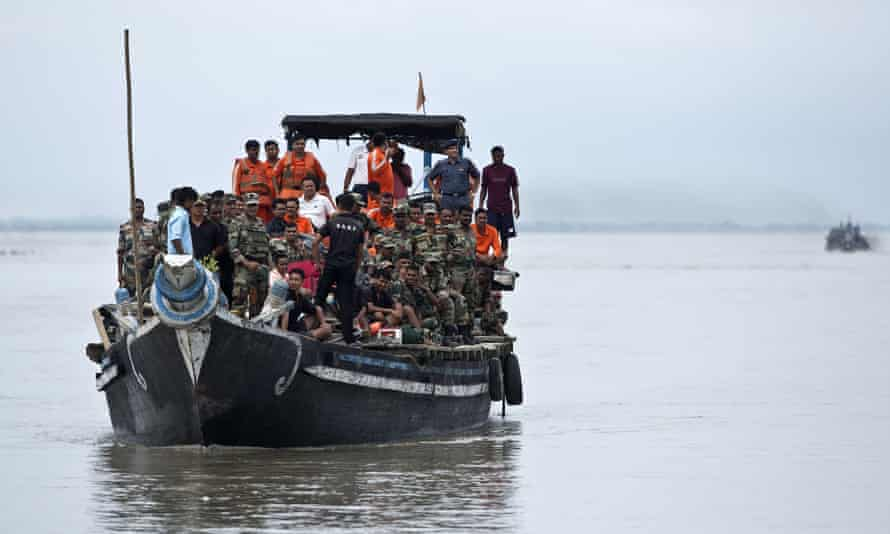 Soldiers arrive to help Assam flood victims