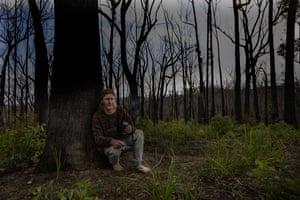 Bart Brackley in bushland at Wallagaraugh