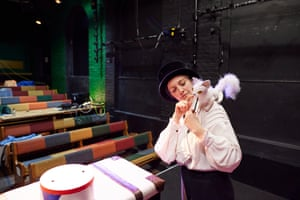 Performer Lizzie Wort devises a one-person show on the main Little Angel theatre stage