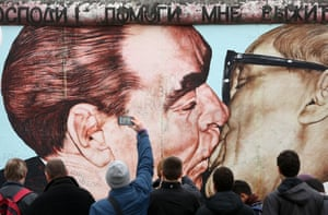 Mural in Berlin: 'My God, Help Me to Survive This Deadly Love.'