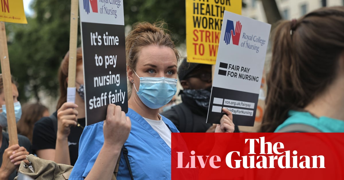 UK politics live: public sector pay rises next year could be lower than inflation, minister admits