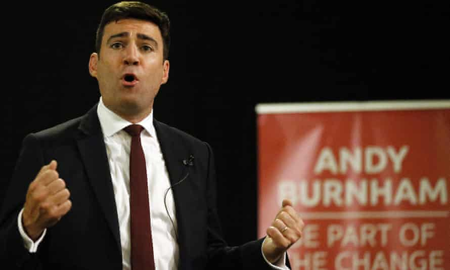 Andy Burnham speaks at a campaign rally in London on Monday.