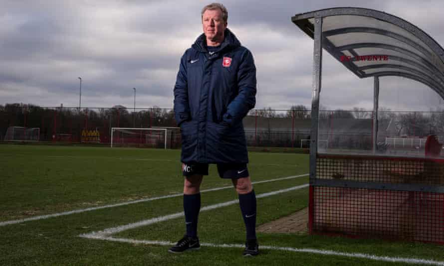 Steve McClaren poses at Twente's Fanny Blankers-Koen Stadium training ground.