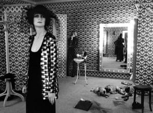 Biba dressing room with dogs, London 1970