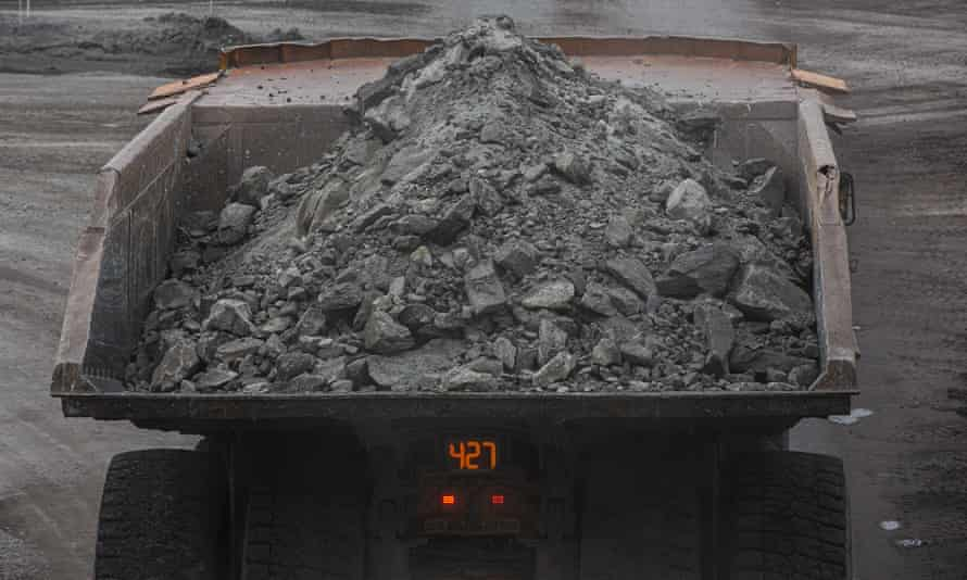 A coal truck at a mine in Muswellbrook in the NSW Hunter Valley
