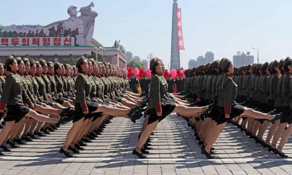 A parade in Pyongyang last year marks the 70th anniversary of the founding of North Korea.