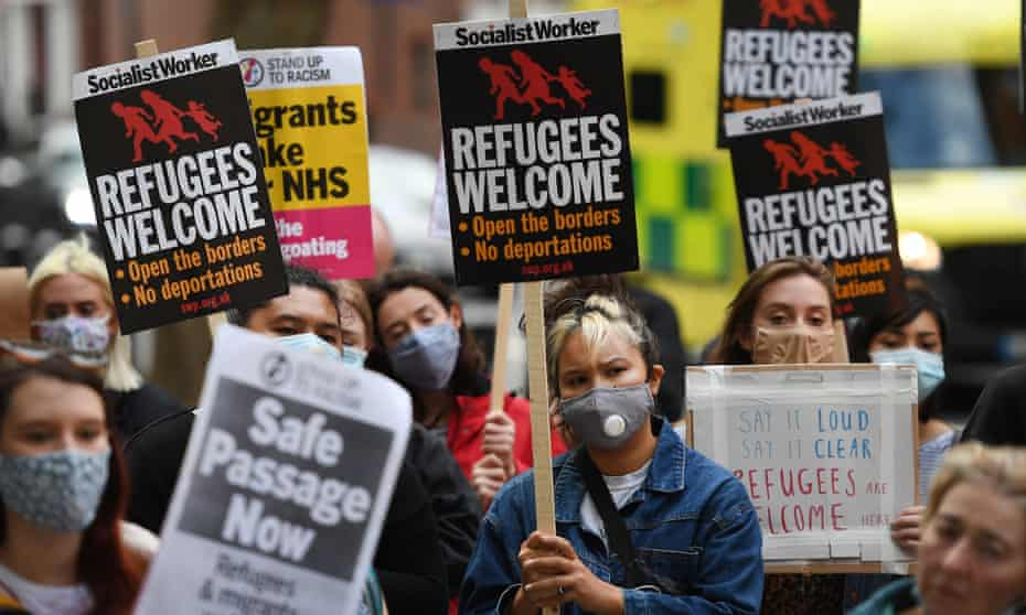 Pro-refugee campaigners