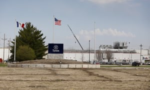The Tyson Foods pork plant in Perry, Iowa.