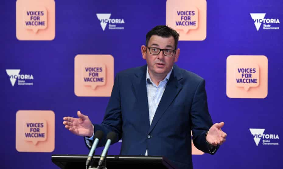 Victorian premier Daniel Andrews says case numbers present a 'challenge' as he announces vaccine mandates for authorised workers.