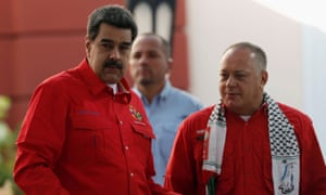Venezuela's president Nicolas Maduro with national assembly chief Diosdado Cabello, who has reportedly been speaking to Trump advisers.