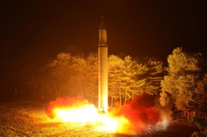 Pyongyang launches its test missile in July last year.