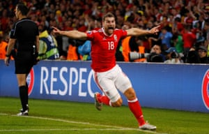 Vokes celebrates scoring the third to spark amazing scenes in Lille.