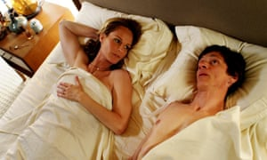 Sex education ... Helen Hunt and John Hawkes in The Sessions.