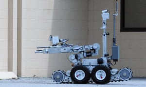 A bomb disposal robot similar to that used to end standoff with Dallas gunman Micah Johnson.