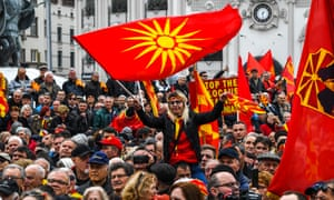 Macedonians protest against the proposed name change in March