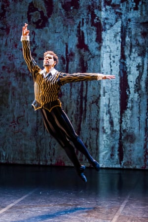 Carlos Acosta in Elizabeth at Linbury Studio, London.