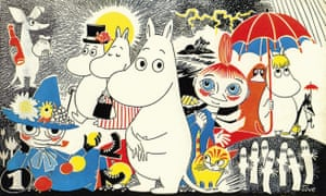 The cast of the Moomins.