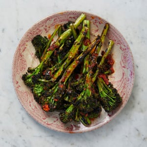 James Lowe's purple sprouting broccoli with 'nduja butter.