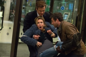 Zellweger with Colin Firth and Patrick Dempsey in Bridget Jones's Baby.