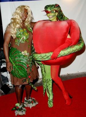 2006 Heidi Klum as the forbidden fruit and Seal as Eve