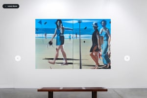 A view of an online gallery from Art Basel