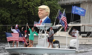 Trump Supporters Hold Boat Parade From Ft Lauderdale To Boca Raton