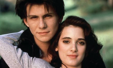 Christian Slater and Winona Ryder in Heathers.