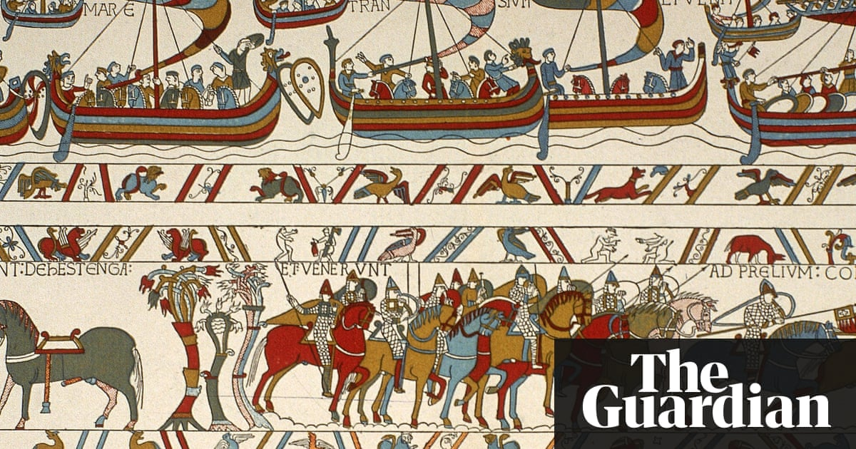 emmanuel macron agrees to loan bayeux tapestry to britain world news the guardian. Black Bedroom Furniture Sets. Home Design Ideas
